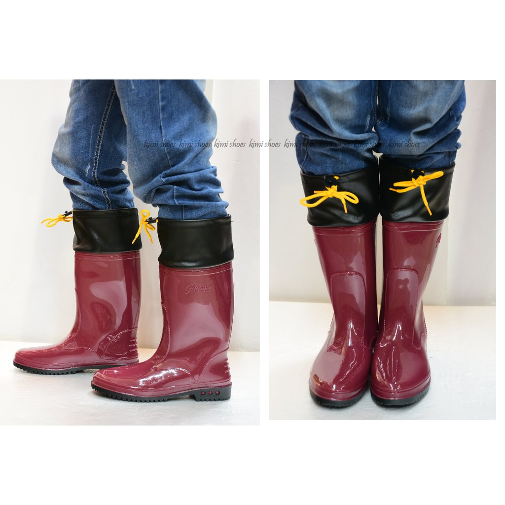 皇力牌 台灣製女用(護口型)高級雨鞋車皮加長雨鞋 登山雨鞋 防滑雨鞋 多功能雨鞋 現貨加預購 超商最多3雙