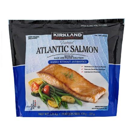 【蝦皮茉兒】宅配免運 🚚 Kirkland Signature科克蘭挪威冷凍鮭魚排1.36公斤COSTCO 好市多