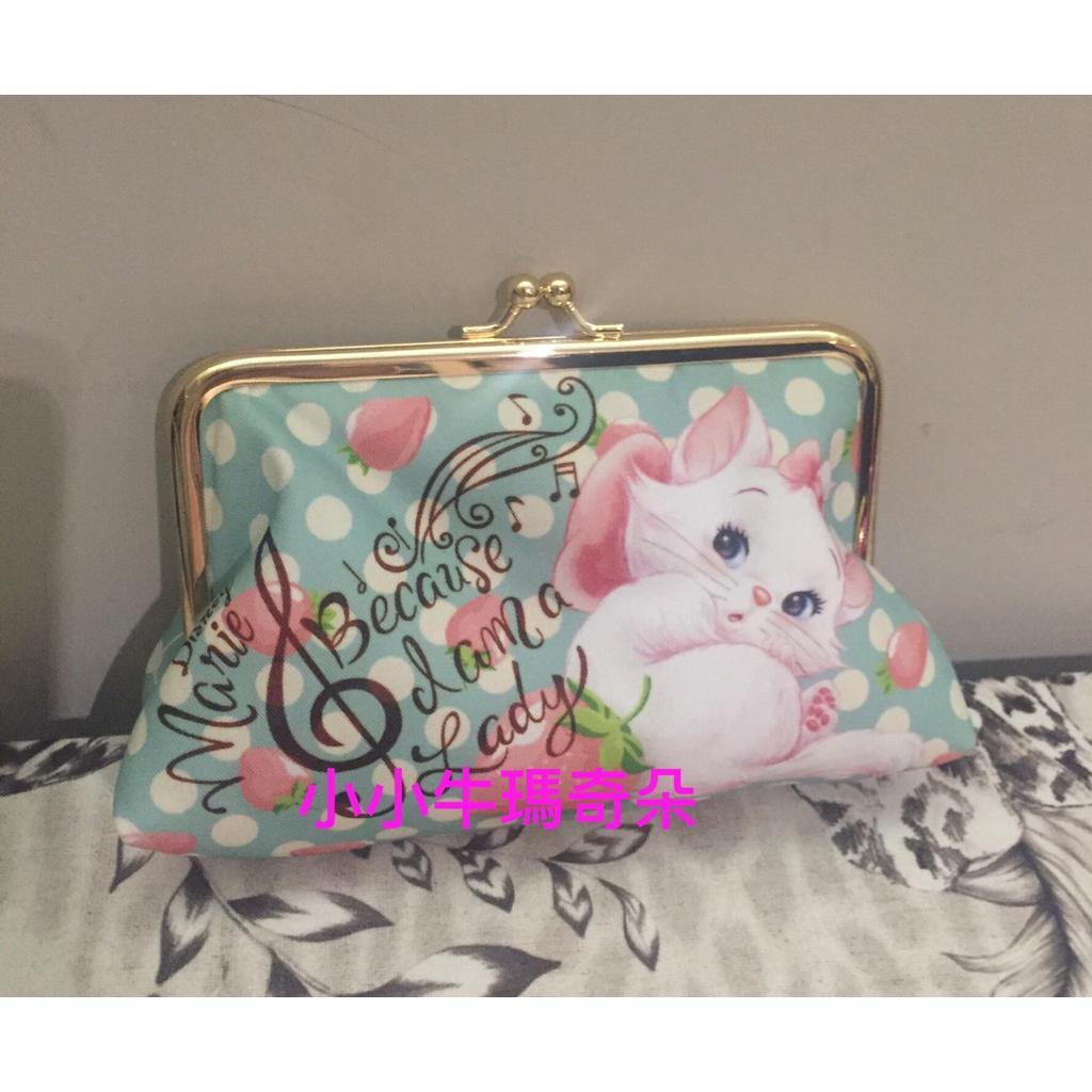~小小牛瑪奇朵~全新東京迪士尼貓咪日之瑪莉貓 瑪麗貓化妝包/手拿包/零錢包