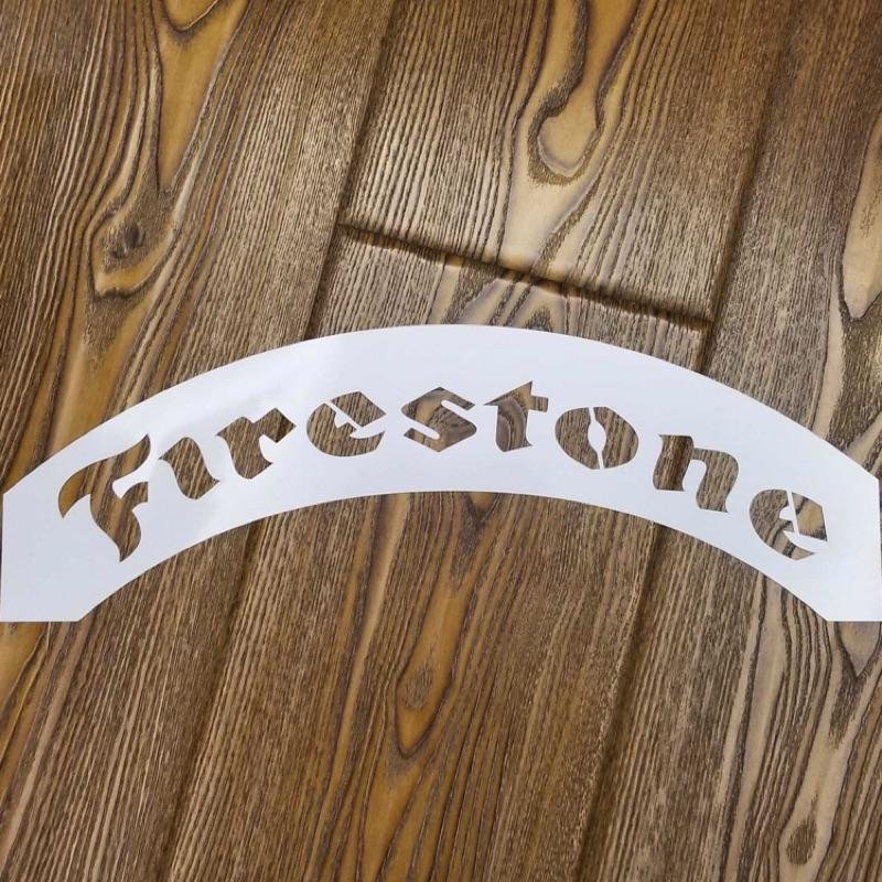 (預購款)19年上新!18寸輪胎字噴板 Firestone 輪胎噴字板 改裝車