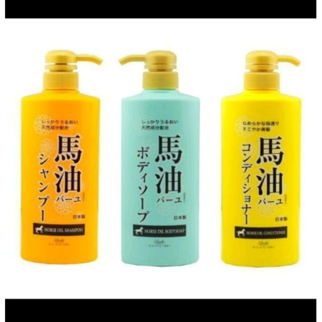 日本 Loshi 馬油保濕滋養沐浴乳 600ml 另有洗髮精/潤髮乳