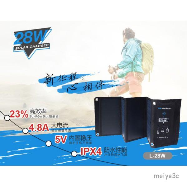 【精品免運】SUNPOWER太陽能折疊包 充電包 5V快充 手機USB充電器 太陽能折疊充電器 28W