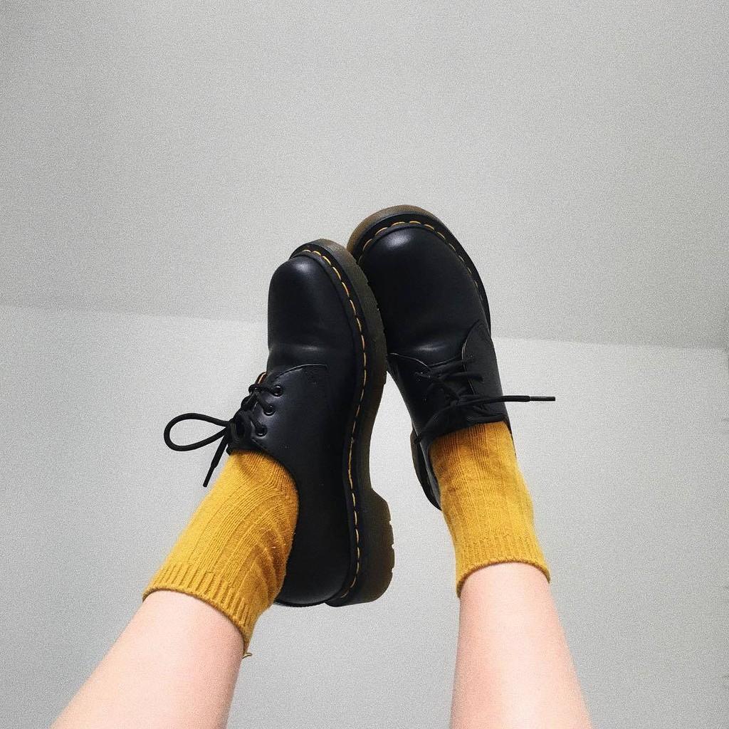 DrMarians馬丁靴男女1461低幫鞋3孔韓版小皮鞋韓版圓頭大頭皮鞋女