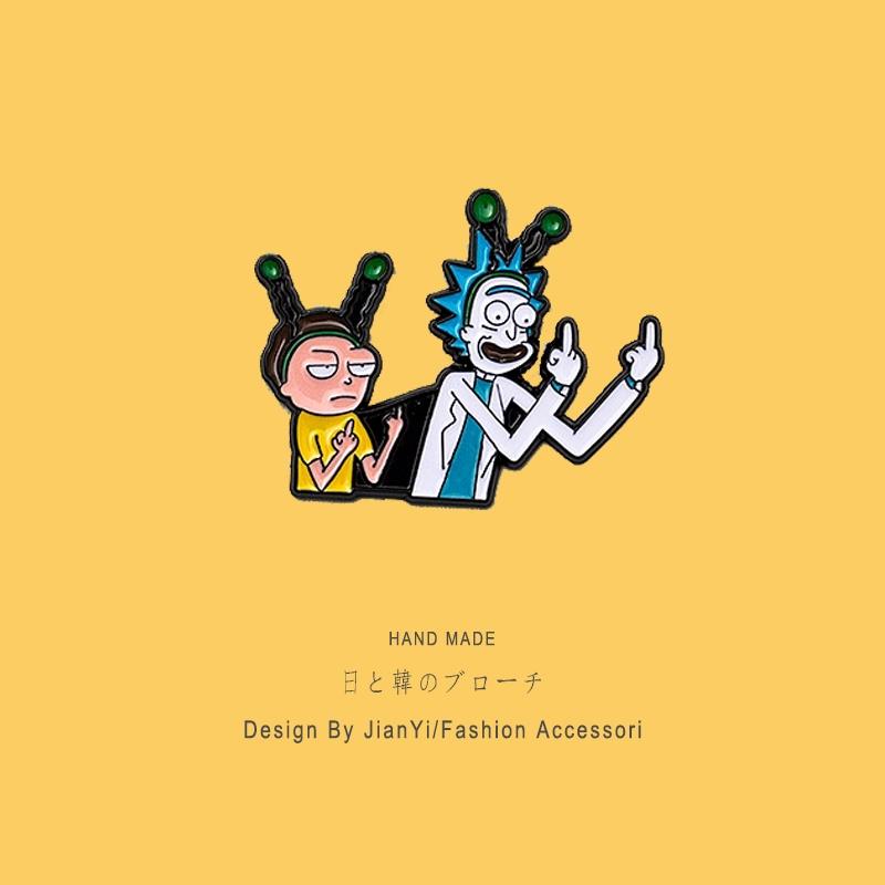 瘋癲博士胸針 Rick And Morty 百搭 卡通動漫徽章 配飾