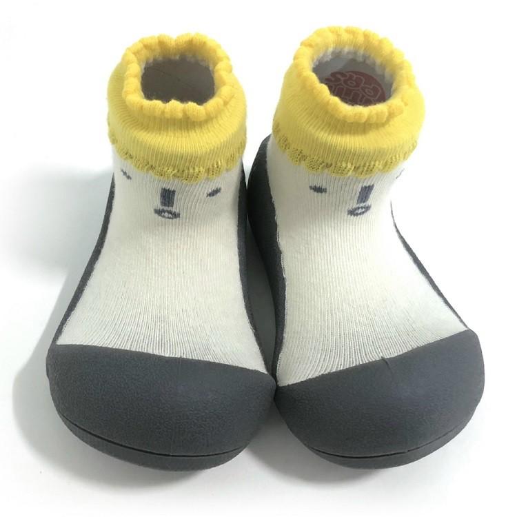 韓國 Attipas 快樂腳襪型學步鞋- 北極熊棕底/灰底/黑底