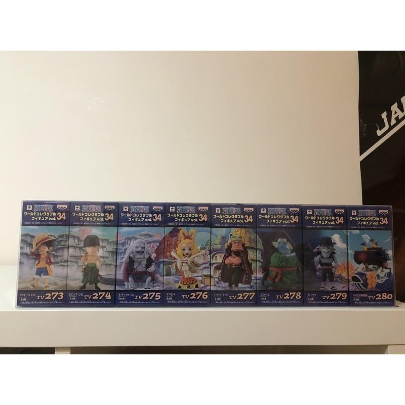 日版 金證 海賊王 航海王 WCF Vol.34 魚人島激鬥篇 魯夫 索隆 甚平 吉貝爾 惡龍 霍迪 泰格 乙姬