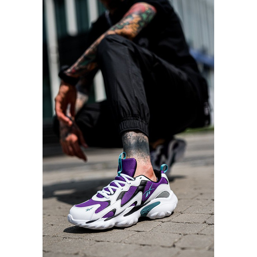 REEBOK DMX SERIES 1000 運動鞋 慢跑鞋 男版 白紫黑 DV8743