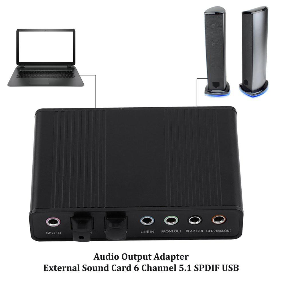 音頻輸出適配器外部聲卡 6 通道 5.1 Spdif Usb 光卡