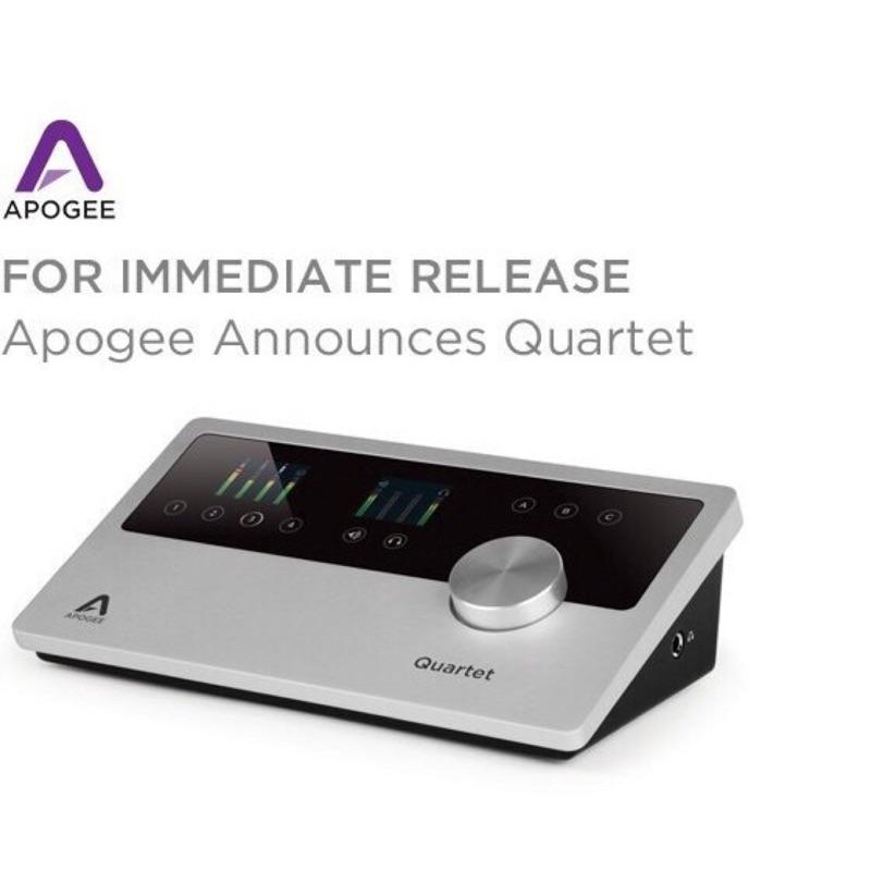 二手近新隨便賣 公司貨 Apogee QUARTET 錄音介面for iPhone iPad Mac 多軌錄音 錄音設備