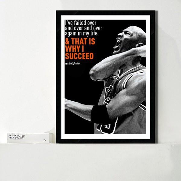 ART。DECO  NBA掛畫 喬丹 JORDAN 籃球明星 運動裝飾畫
