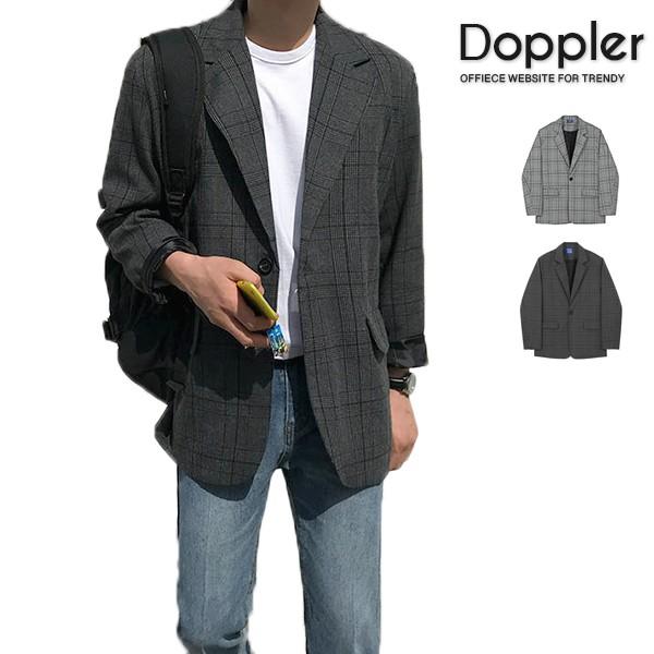 西裝外套 韓系單排扣千鳥格紋西裝外套 休閒西裝【TJ210060】現貨+預購 Doppler