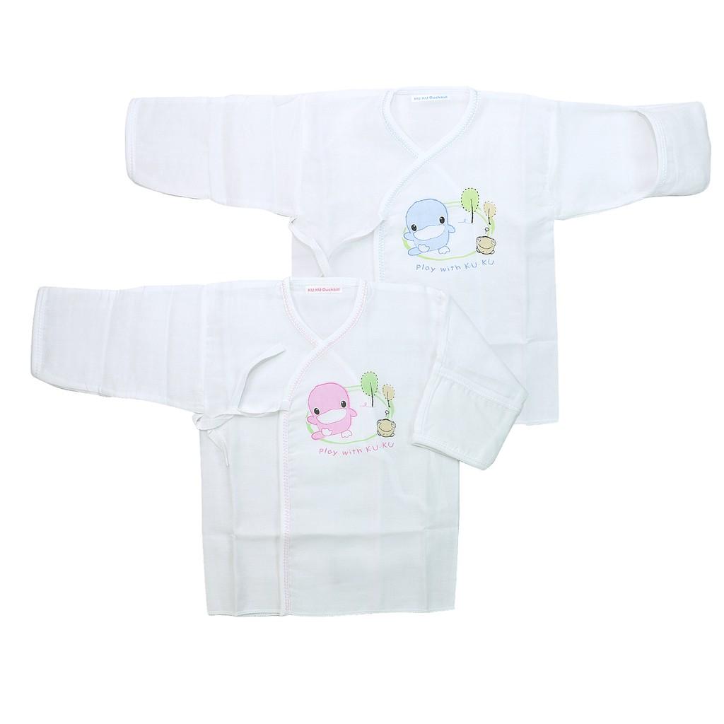 KU.KU酷咕鴨小森林紗布肚衣反手袖2738(適合年齡 出生~3個月)反袖口設計 避免寶寶抓傷嬌嫩肌膚 HORACE
