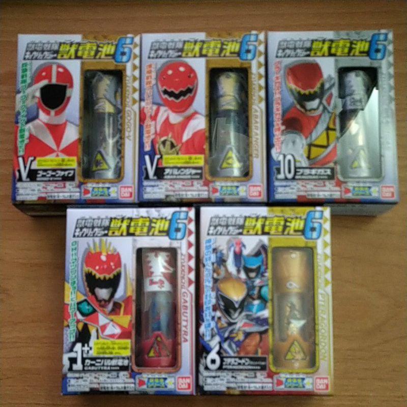 現貨 日版 盒玩 獸電戰隊 獸電池 第六彈 全版5盒