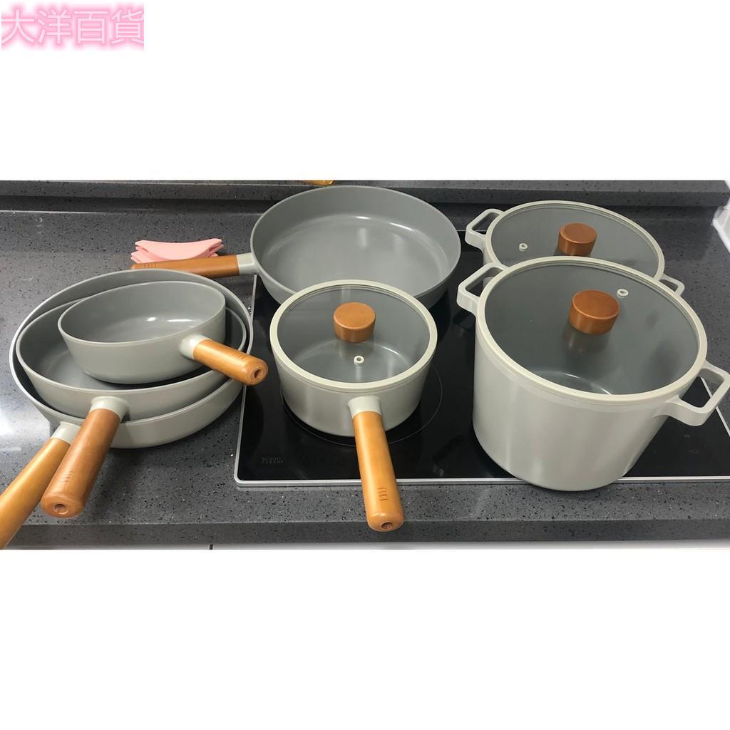 【大洋百貨】🔥Fika升級款🔥韓國 NEOFLAM FIKA 超質感午夜灰色 無害不沾鍋/平底鍋