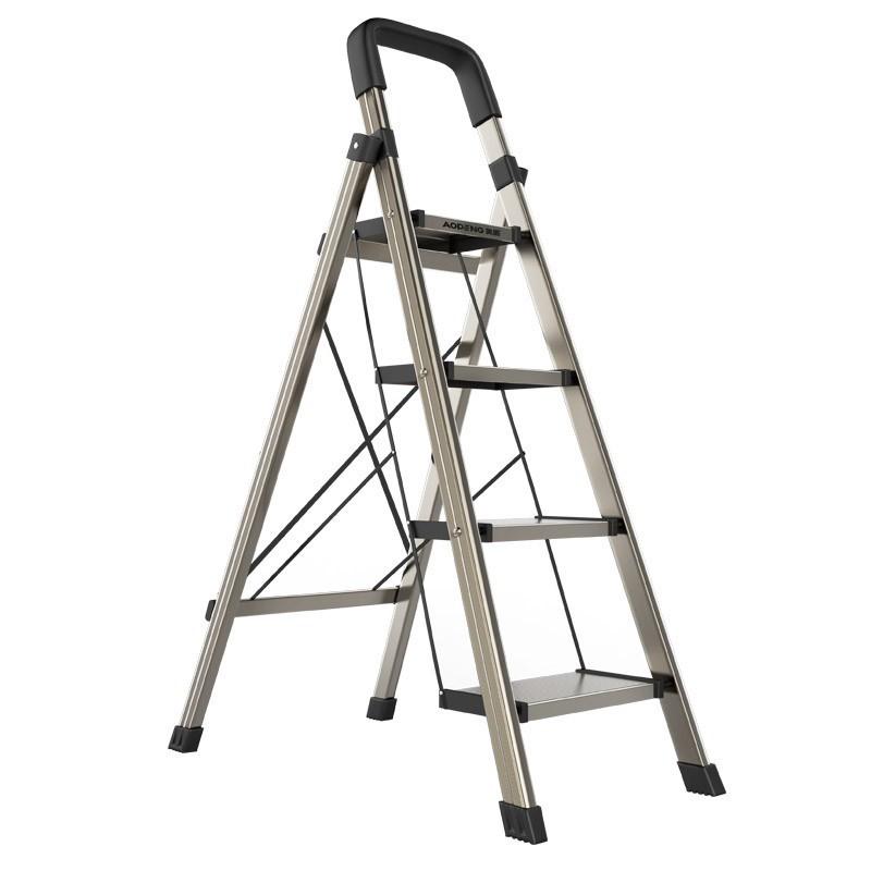 現貨奧鵬鋁合金梯子家用折疊人字梯加厚室內多功能樓梯三四5步小扶梯