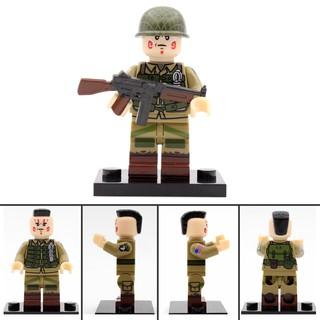 阿樂積木人偶 單隻 JA001 美軍 美國士兵 衝鋒槍 軍人 諾曼第 第101空降師 傘兵 二戰 第三方人偶相容樂高 高雄市
