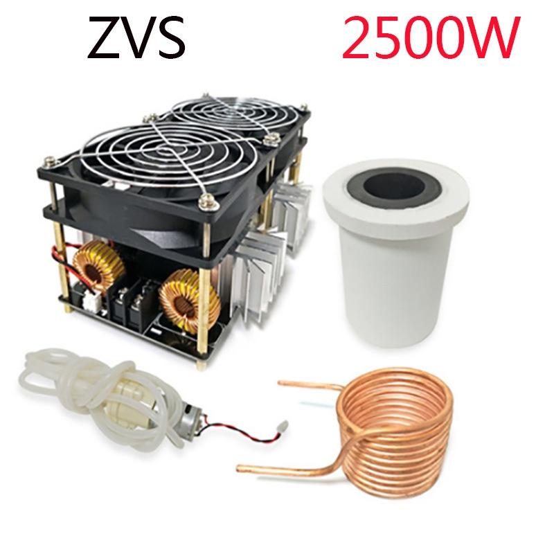 ZVS高頻感應加熱2500W大功率高頻機高頻淬火中頻爐無抽頭