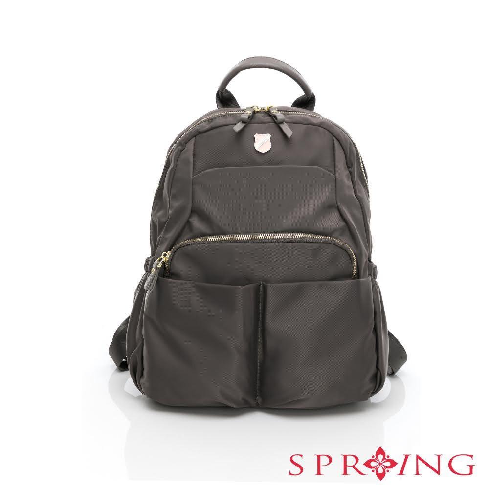 SPRING-未來質感系列尼龍小口袋後背包-多色