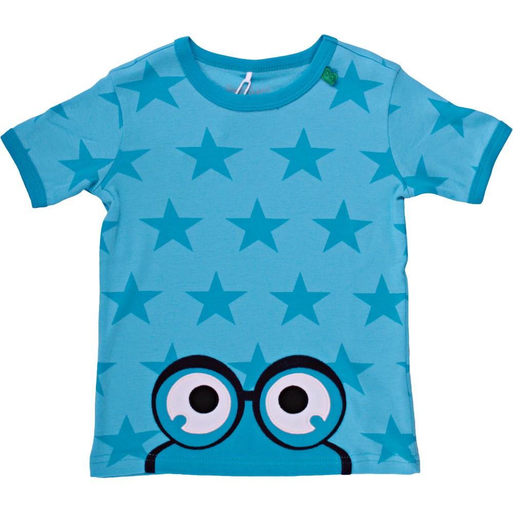 丹麥 Fred's World 水藍星星小青蛙短袖上衣|110cm 116cm 128cm
