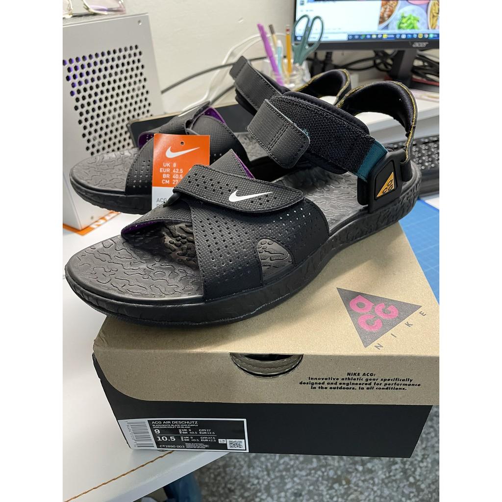 NIKE ACG Deschutz QS 黑紫 US9 戶外機能 休閒 涼鞋【CT2890-003】