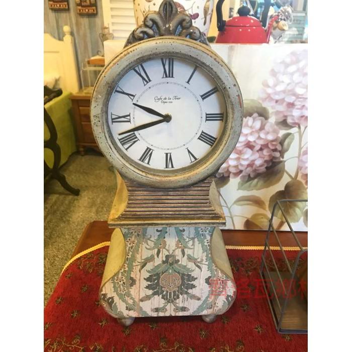 《齊洛瓦鄉村風雜貨》彩繪復古座鐘 時鐘 桌上鐘