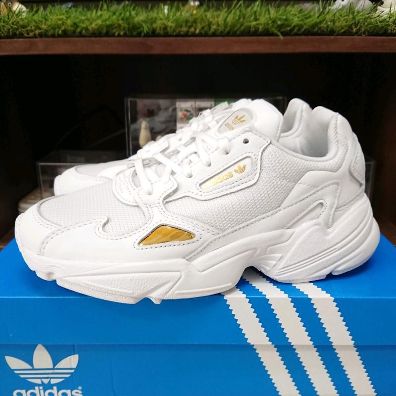 【小八】Adidas Falcon W White Gold Metal 白金 EE8838