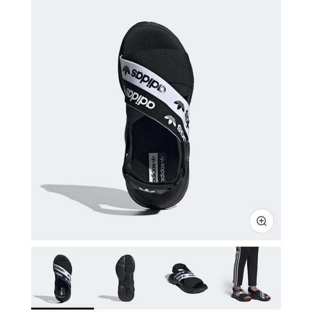 二手Adidas黑色繃帶涼鞋