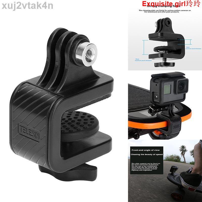 *廠家限時下殺*Gopro 配件滑板摩托車自行車車把旋轉夾固定夾安裝支架, 用於 Gopro Insta360 One