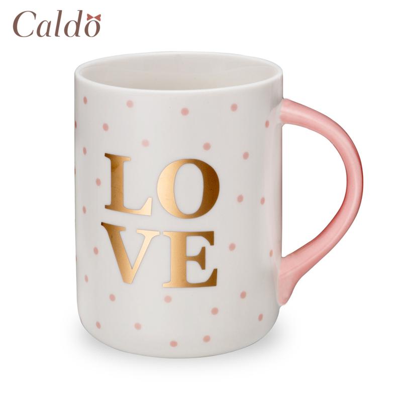 【Caldo卡朵生活】愛是一切粉系情人馬克杯500ml/點點