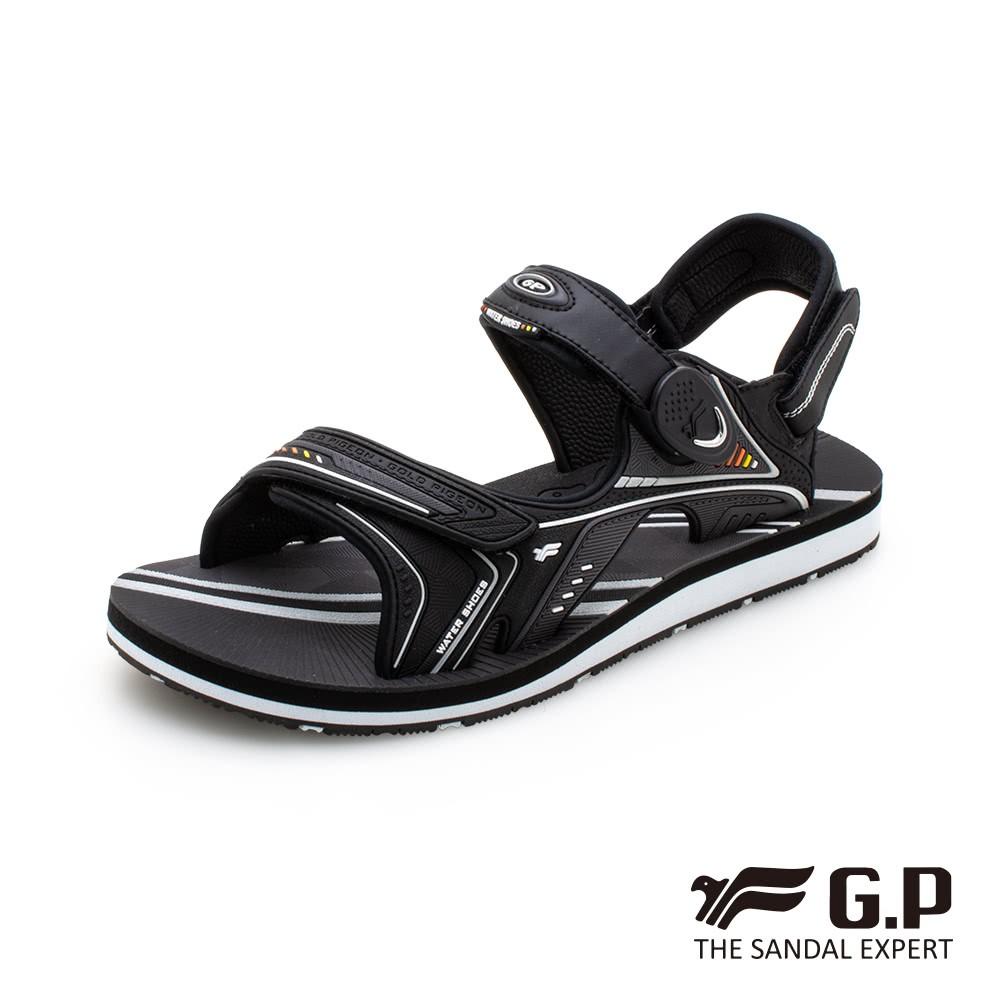 G.P (男) 簡約男性兩用涼拖鞋-黑(另有藍、橘)