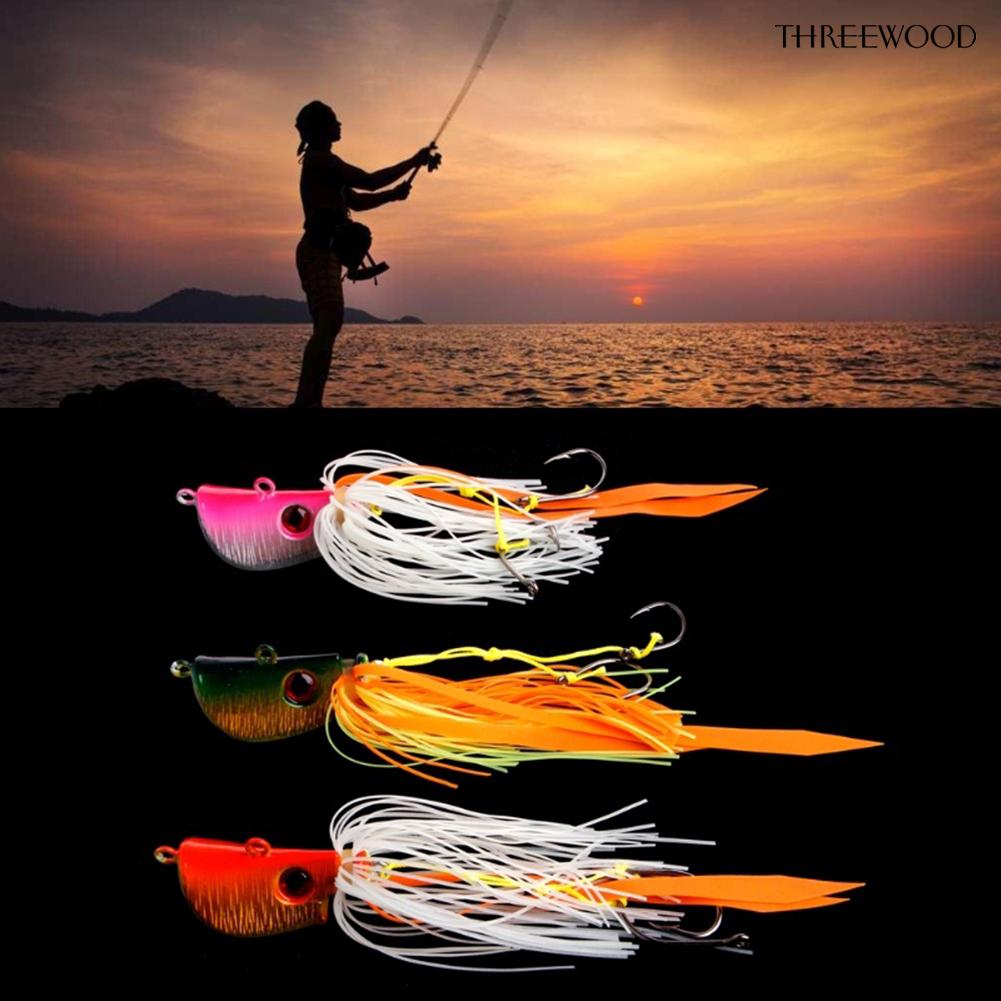 🌴補風者🏃 海釣魚餌炎月鐵板路亞假餌45g,65g,85g鬍鬚佬章魚魷魚鉛頭鉤