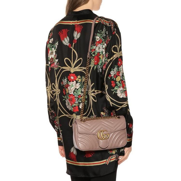 Gucci 古馳 Marmont GG Small 歐洲限量 奶茶裸色 443497 肩背包 斜背包