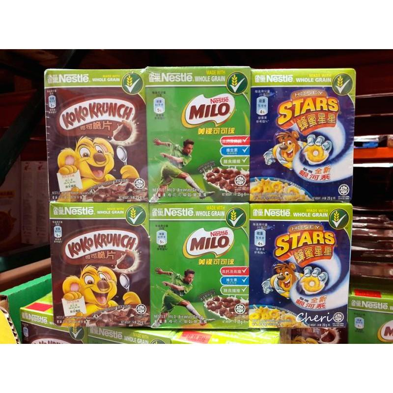 BLANC_COSTCO 好市多 Nestle 雀巢 早餐脆片 可可脆片 美祿可可球 活力分享組 共24入/組