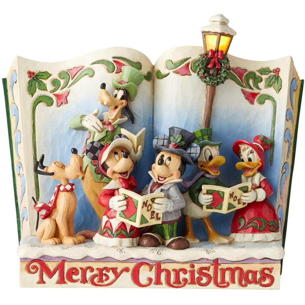 Enesco Disney 迪士尼 米奇家族故事書塑像