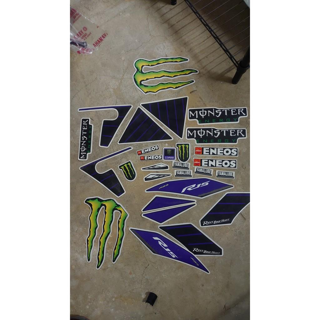 YAMAHA r15 v3 印度版 鬼爪 monster 全車 車殼 彩貼 貼紙