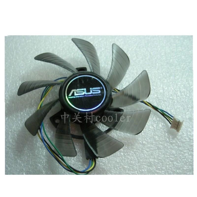 適用華碩EAH6870 DC2DI2S/1GD5 翔昇GTX650ti 1GD5終結版顯卡風扇