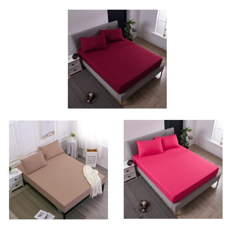 ♫MECEROCK♫ 素色床包式防水保潔墊 完全防水隔尿墊 床墊保護套 單人/雙人/標準/加大/特大純色保潔墊