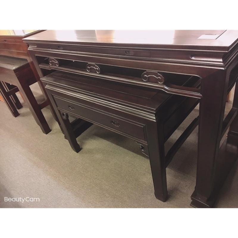 緬甸昆甸木純手工榫卯制作寬5尺1深2尺2高3尺6新如意神桌