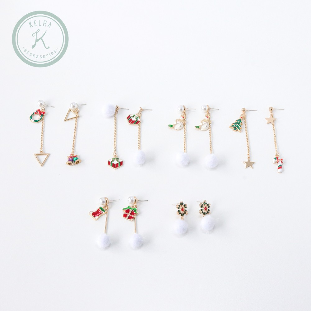 【KELRA】925銀針 聖誕佳節系列耳環 耳夾