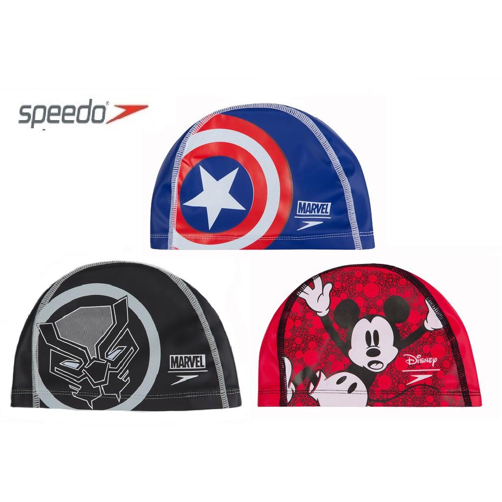 ~有氧小舖~2019 SPEEDO兒童防水合成帽 Pace 特殊矽膠泳帽(布帽的舒適又能減少浸水)