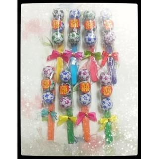 可愛77足球巧克力喜糖~婚禮喜糖/ 派對糖果/ 生日糖果/ 幼兒園分享糖果(冰棒造型) 臺中市