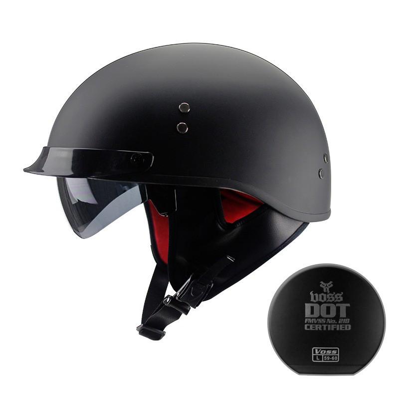 【臺灣本地貨】VOSS復古哈雷安全帽 摩托車頭盔 個性哈雷機車半盔 電動車腳踏車