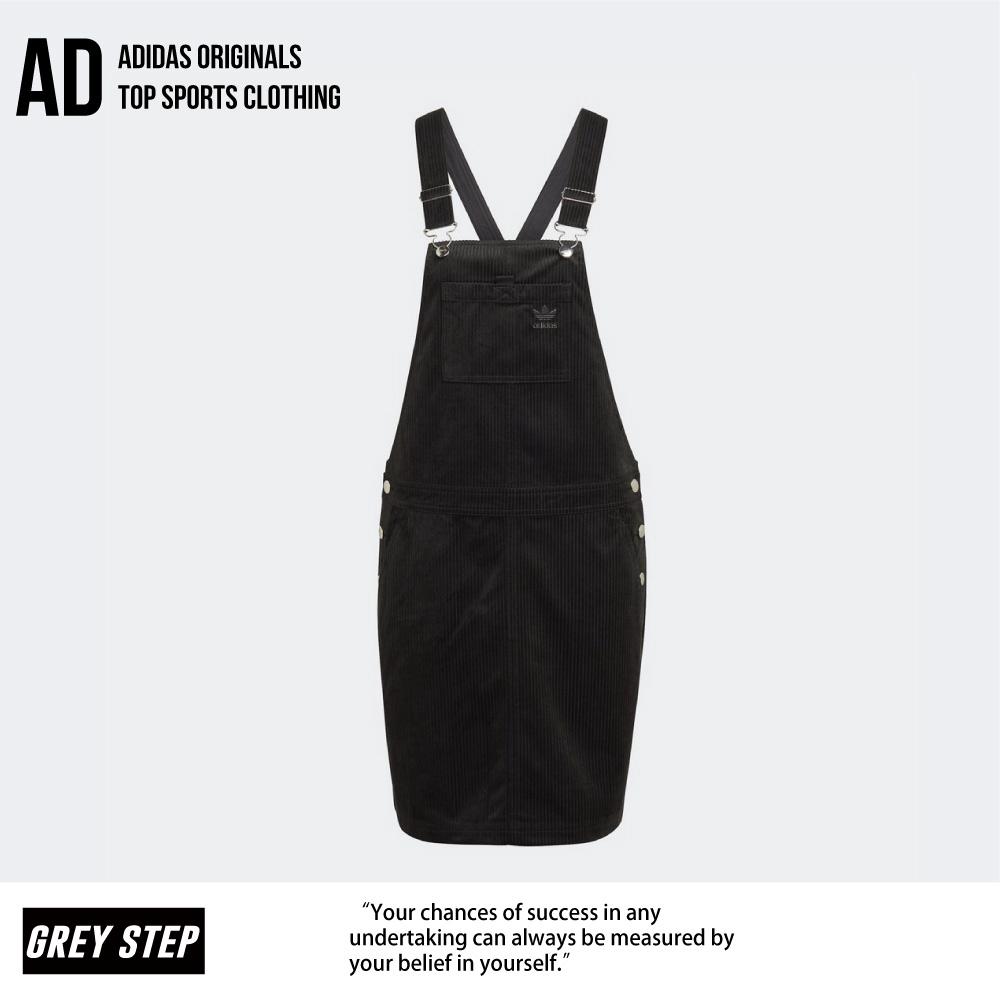 Adidas 愛迪達 三葉草 燈籠蕊 吊帶褲 女 黑色 裙子 GU2995 全新正品 快速出貨