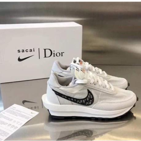 全新Nike x Sacai x Dior 聯名 20新款 獨家首發 白灰 雙溝設計 現貨