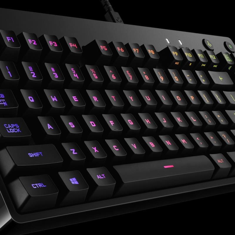 LOGITECH 羅技 G Pro 鍵盤, 帶遊戲電纜 Rgb 人體工學機械設計背光遊戲鍵盤