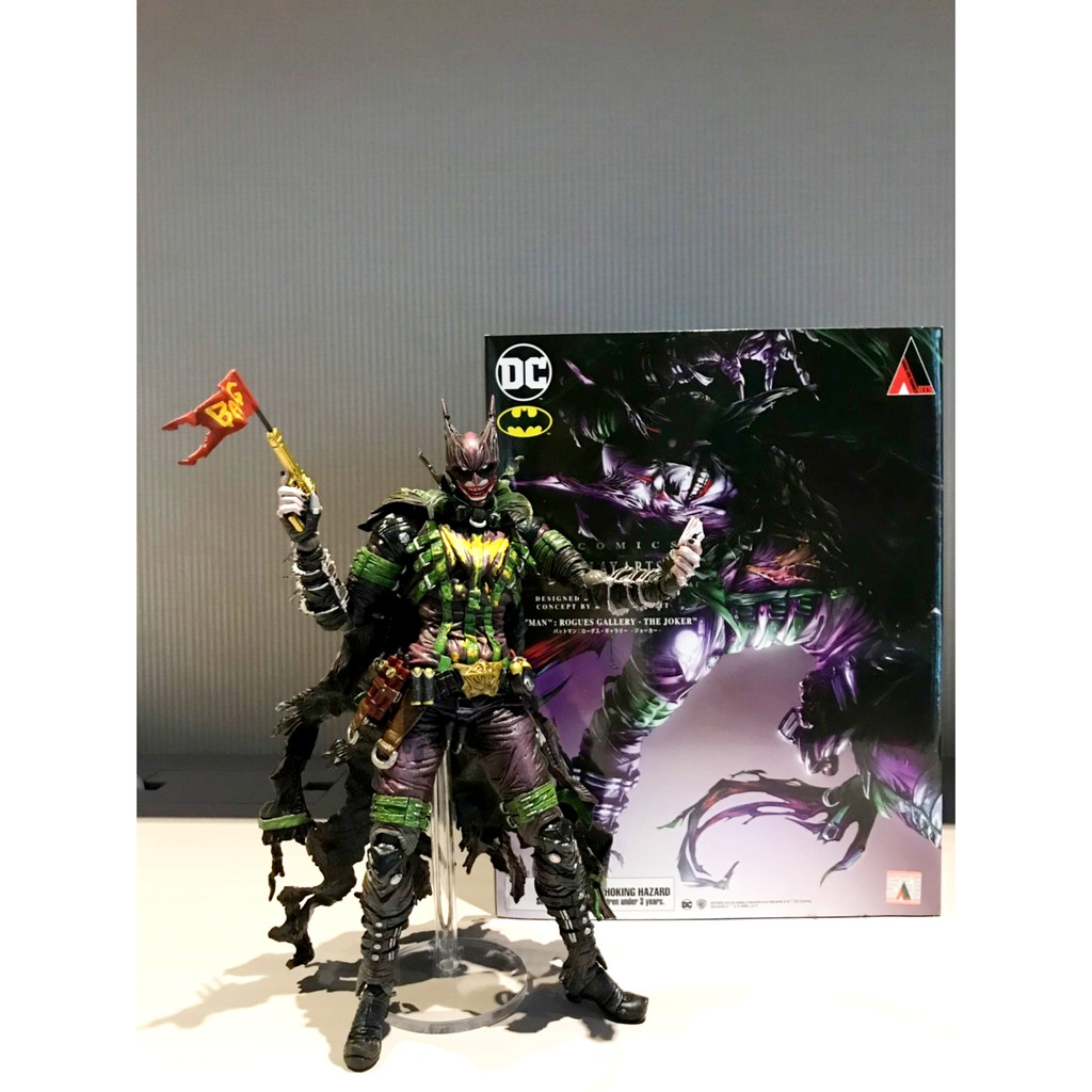 正版 免運 Play arts 改 惡棍畫廊 小丑 蝙蝠俠 Rogues Gallery Joker 近全新
