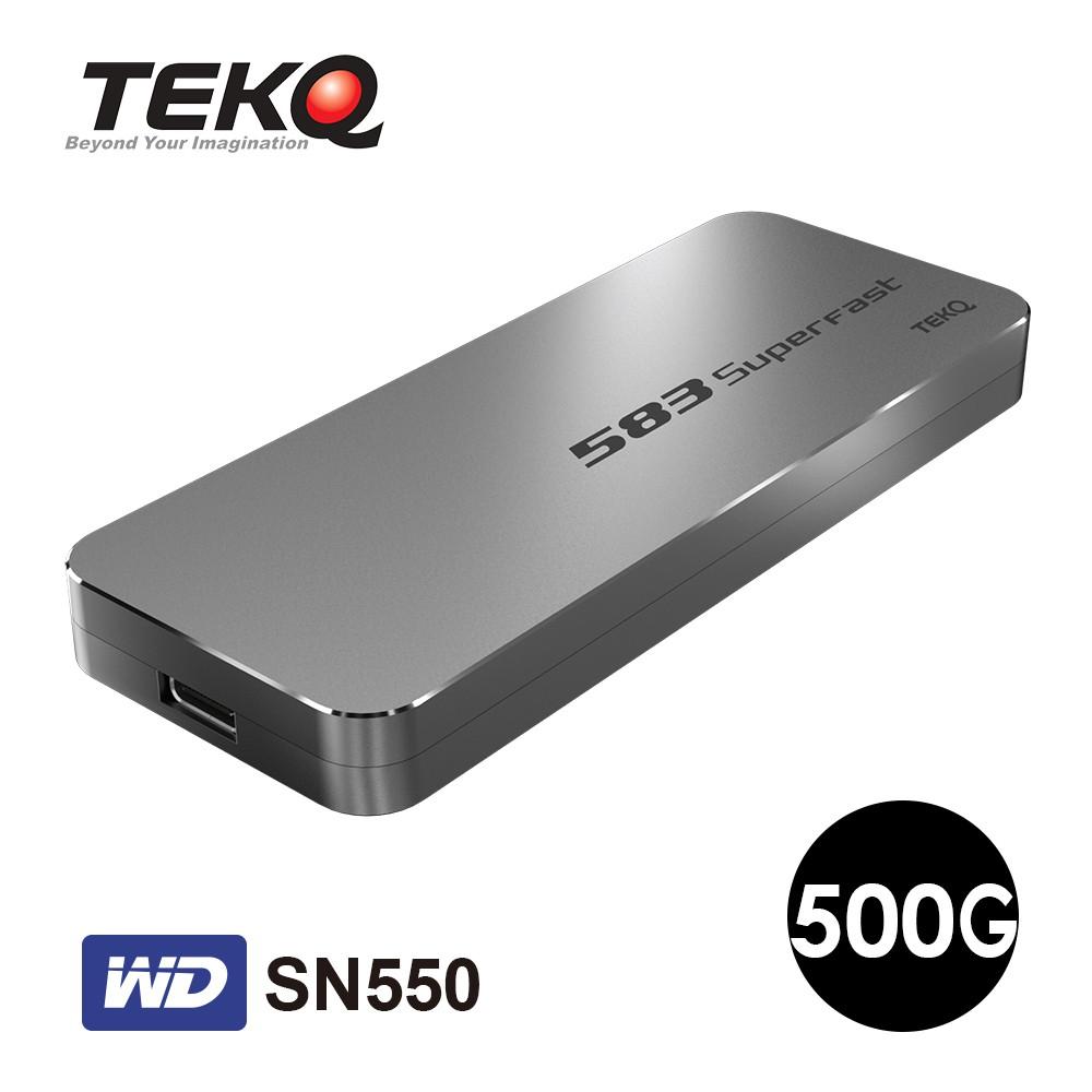TEKQ 583SuperFast WD SN550 500G Type-C M.2 SSD 外接硬碟