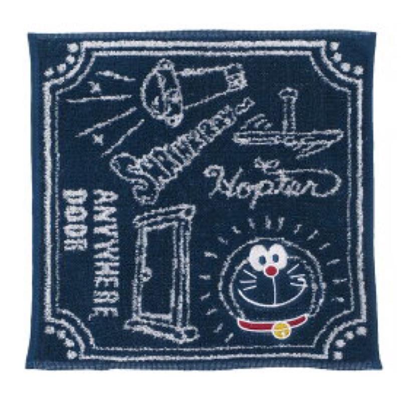 日本ドラえもん 哆啦a夢 限定販售款 兒童純棉方巾/手帕(日本直送,正版商品)