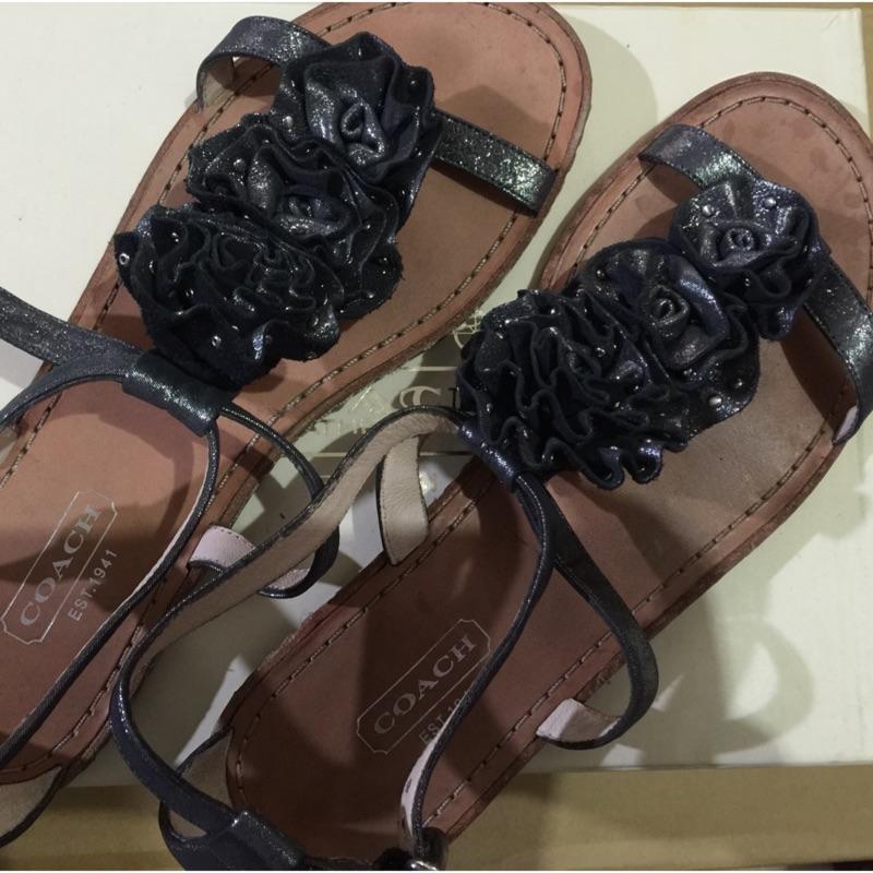 Coach涼鞋