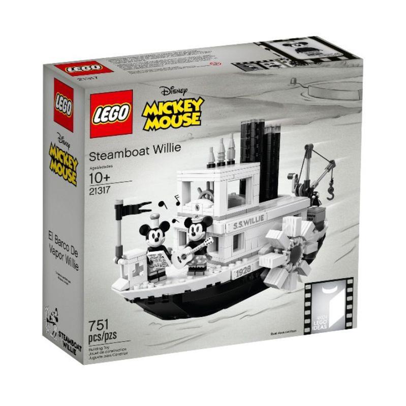 【合售】樂高 LEGO  IDEAS系列 21317 Steamboat Willie 迪士尼 威利號蒸汽船 組合販售